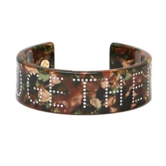 India Hicks camo and crystal bracelet